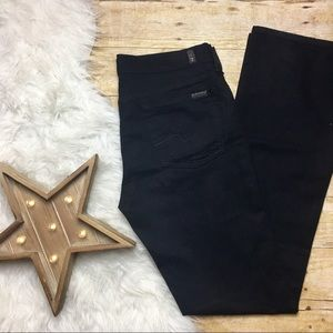 7 For All Mankind Black 5 Pocket Bootcut Jeans